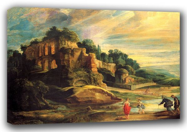 Rubens, Peter Paul: Landscape with the Ruins of Mount Palatine. Fine Art Canvas. Sizes: A4/A3/A2/A1 (001216)